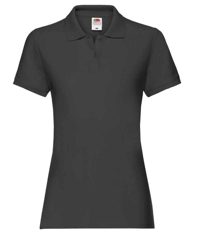 Dámská polokošile Lady-Fit Premium Polo. Barva: Black