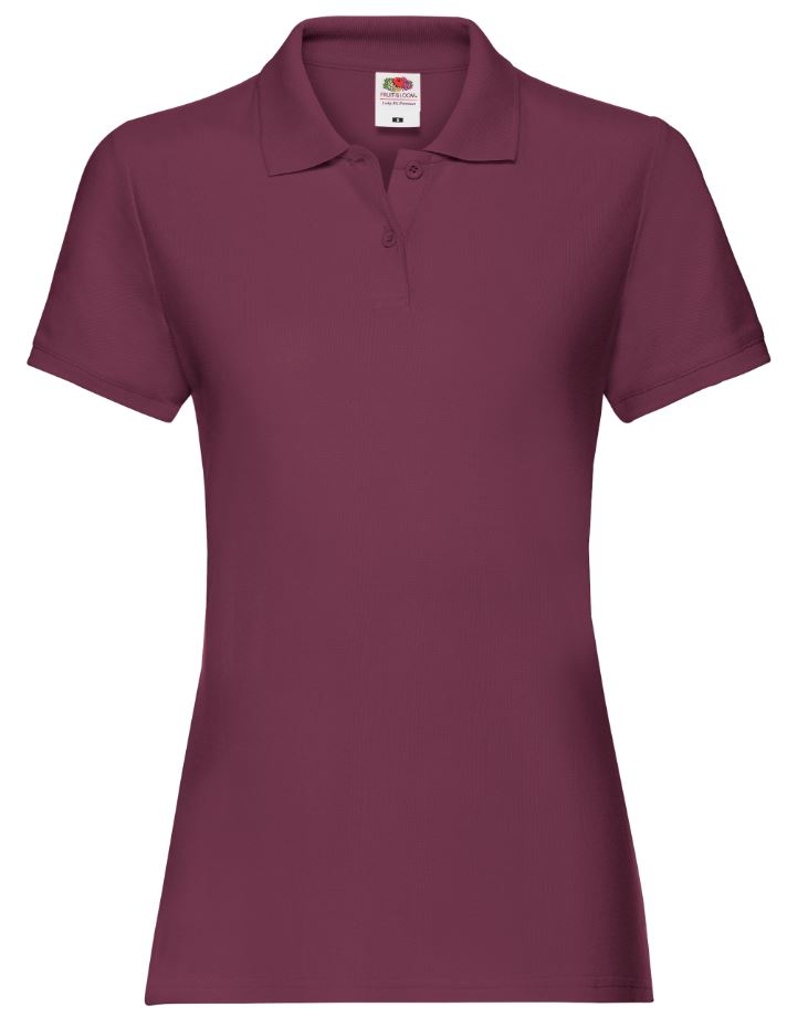 Dámská polokošile Lady-Fit Premium Polo. Barva: Burgundy