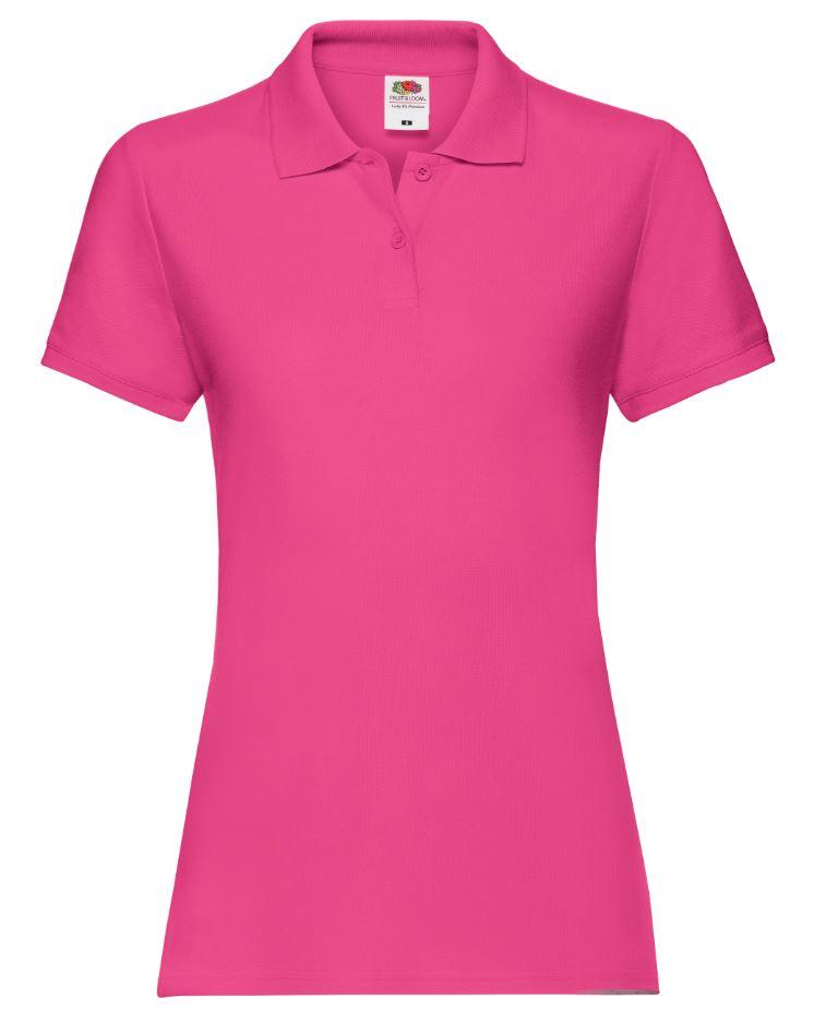 Dámská polokošile Lady-Fit Premium Polo. Barva: Fuchsia