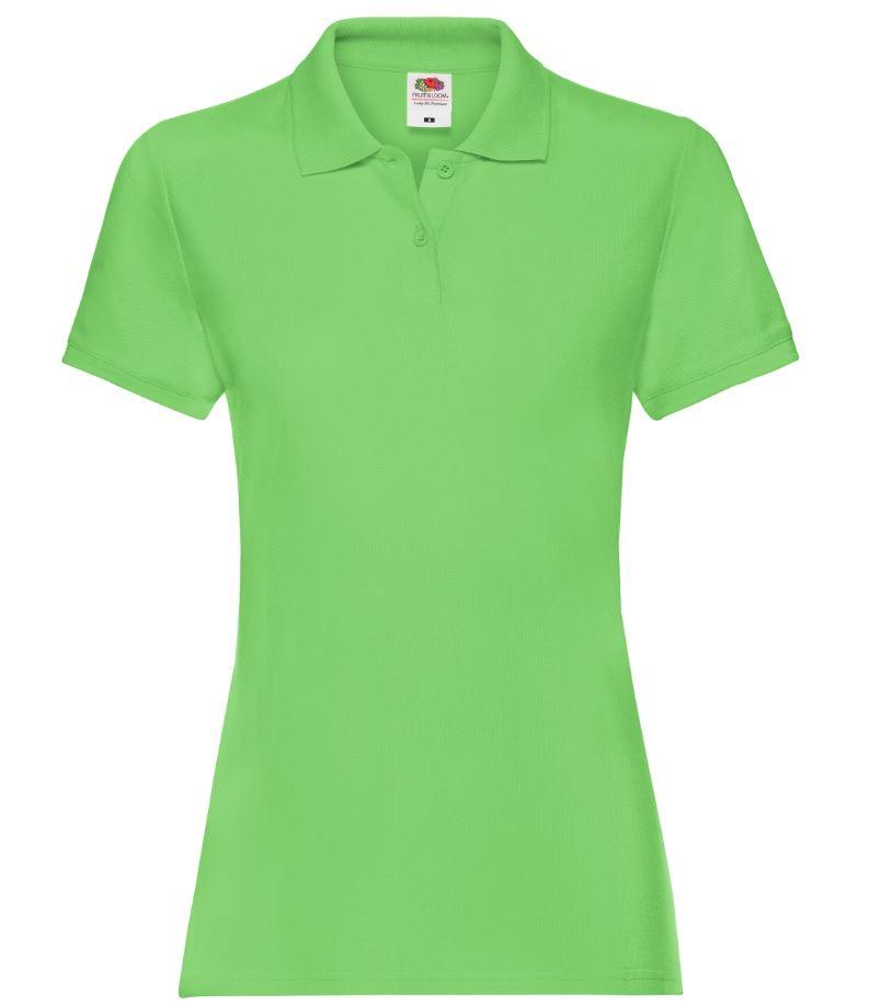Dámská polokošile Lady-Fit Premium Polo. Barva: Lime