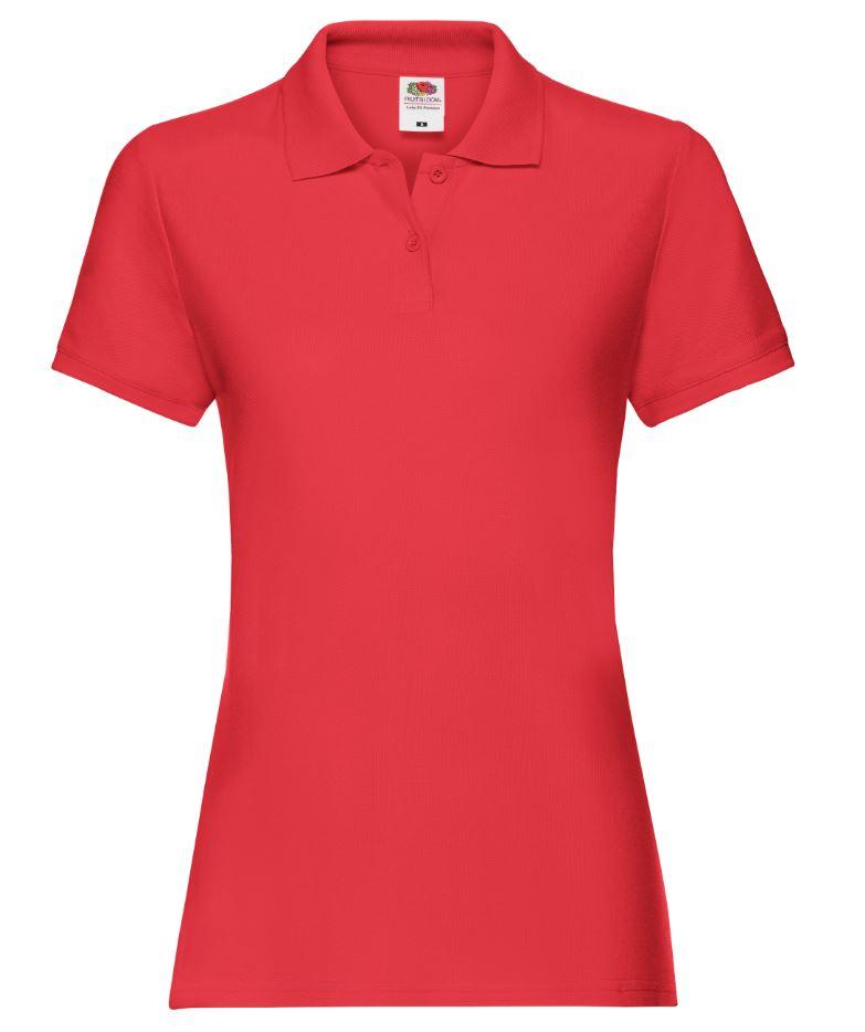 Dámská polokošile Lady-Fit Premium Polo. Barva: Red