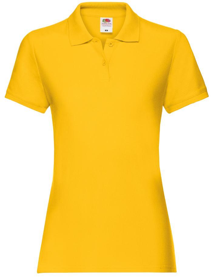 Dámská polokošile Lady-Fit Premium Polo. Barva: Sunflower