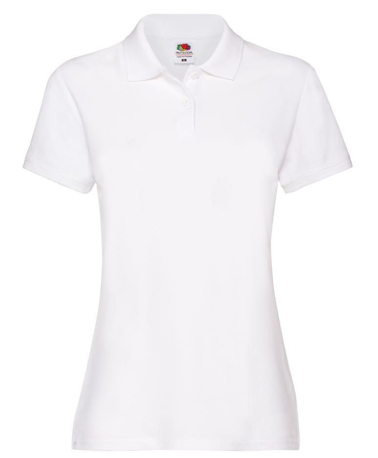 Dámská polokošile Lady-Fit Premium Polo. Barva: White
