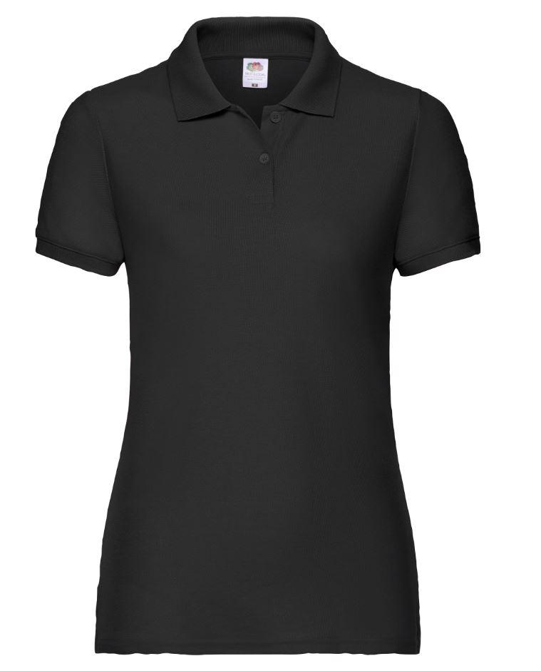 Dámská polokošile Lady-Fit 65/35 Polo. Barva: Black