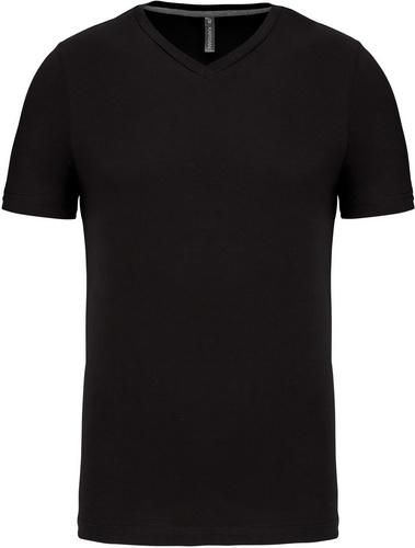 Pánské tričko kr.rukáv V-neck. Barva: Black