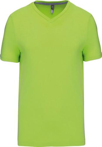 Pánské tričko kr.rukáv V-neck. Barva: Lime