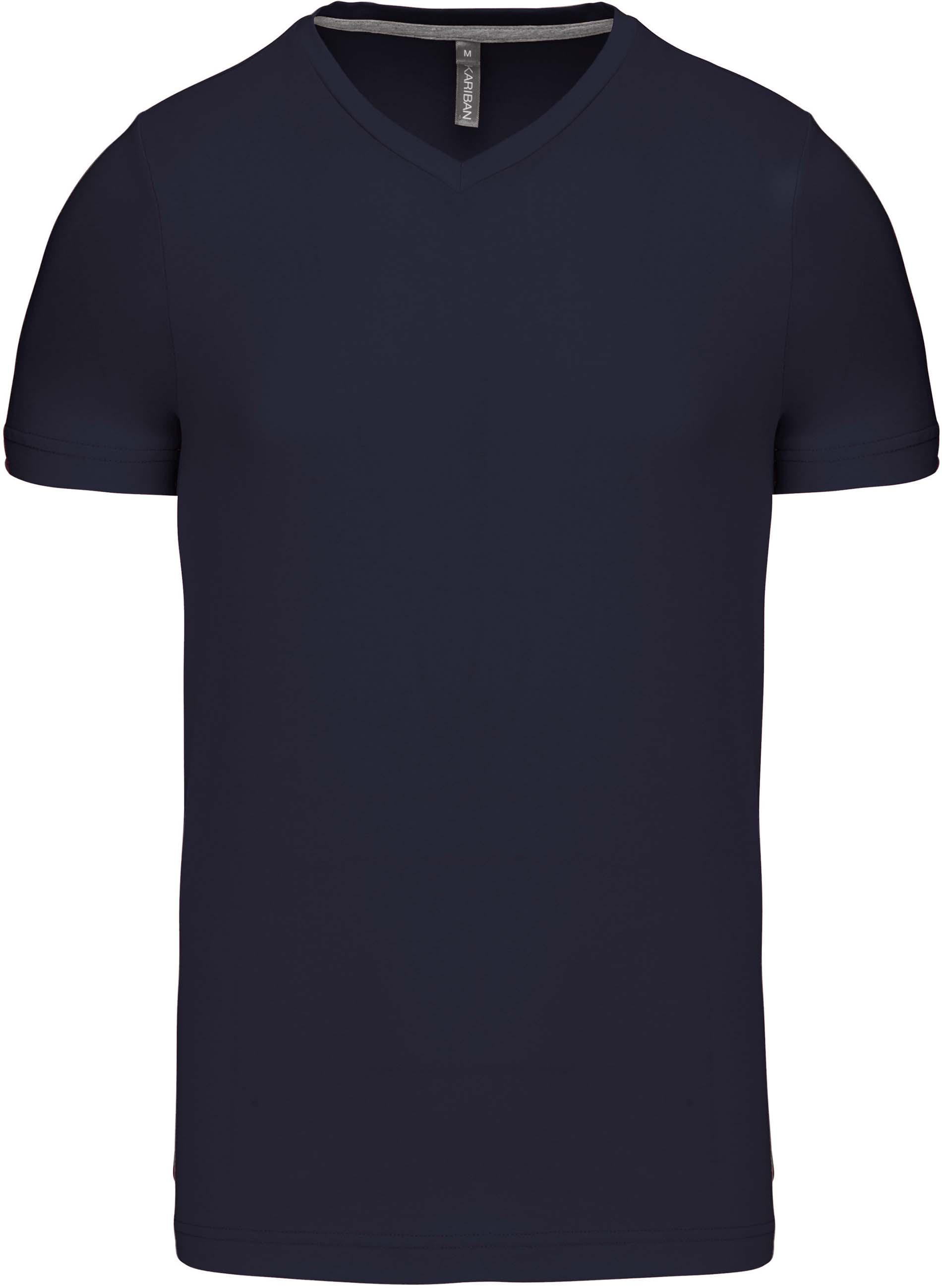 Pánské tričko kr.rukáv V-neck. Barva: Navy