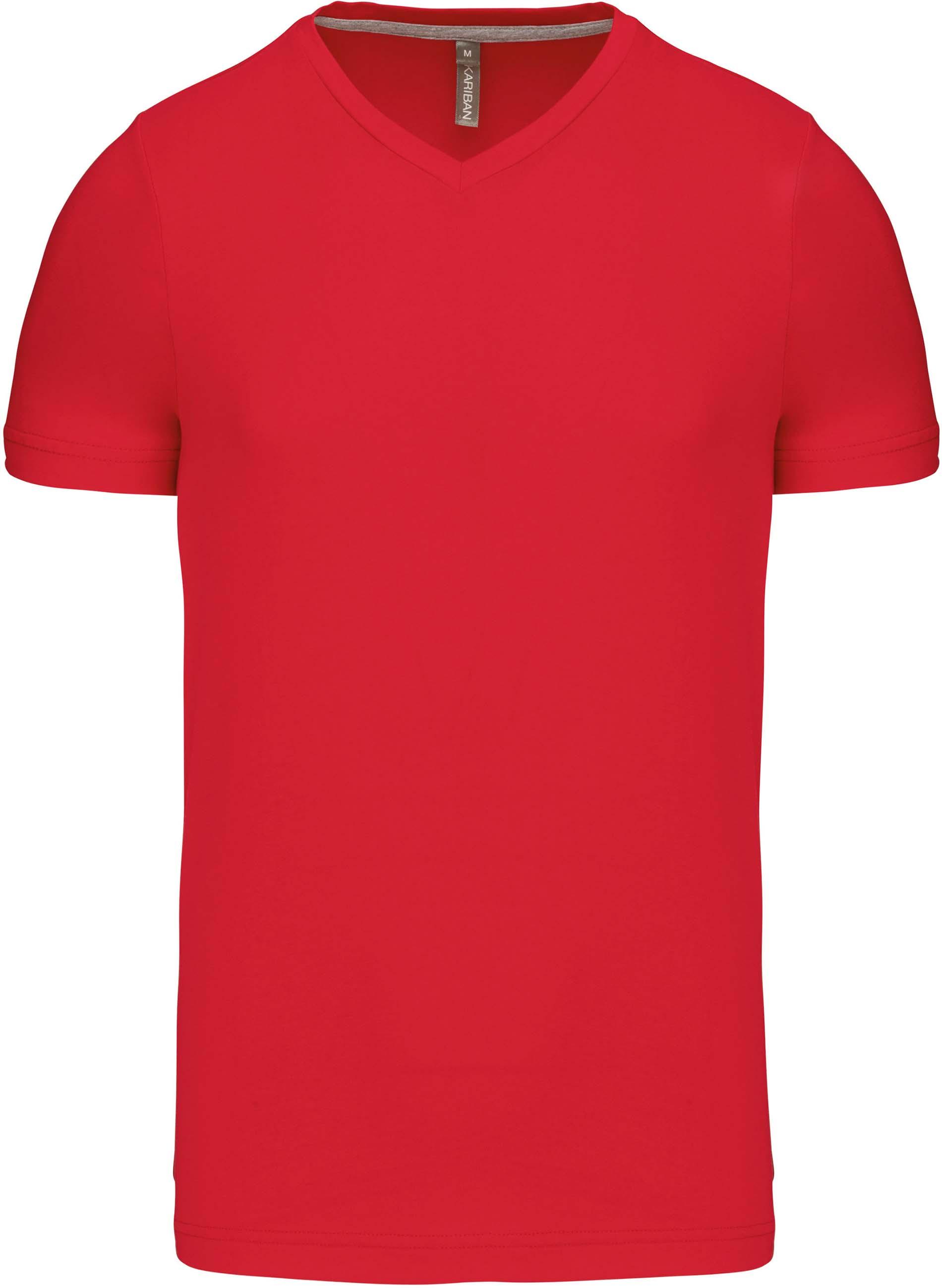 Pánské tričko kr.rukáv V-neck. Barva: Red