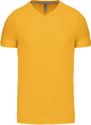Pánské tričko kr.rukáv V-neck. Barva: Yellow