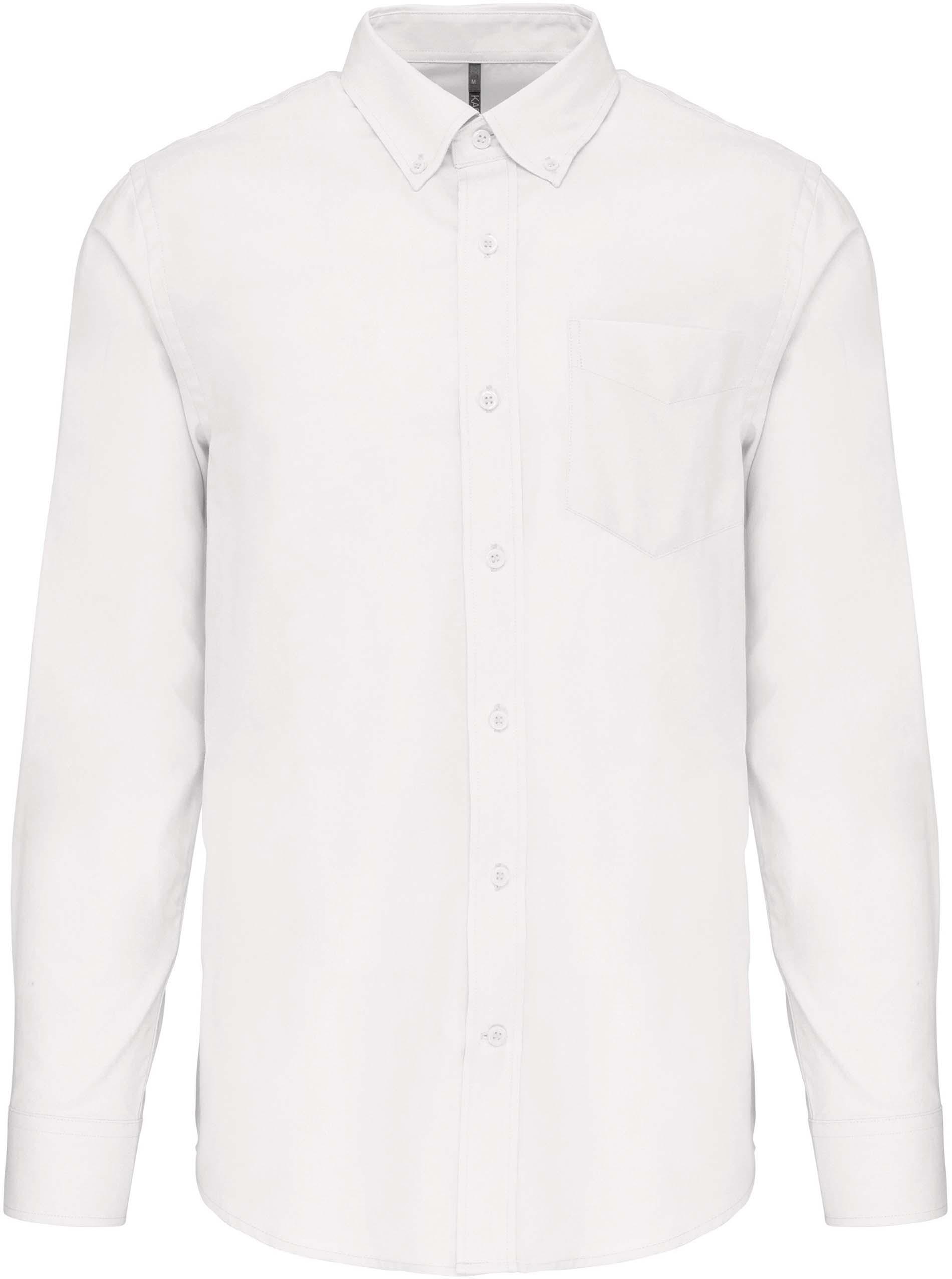 Pánská košile oxford s dlouhým rukávem. Barva: White