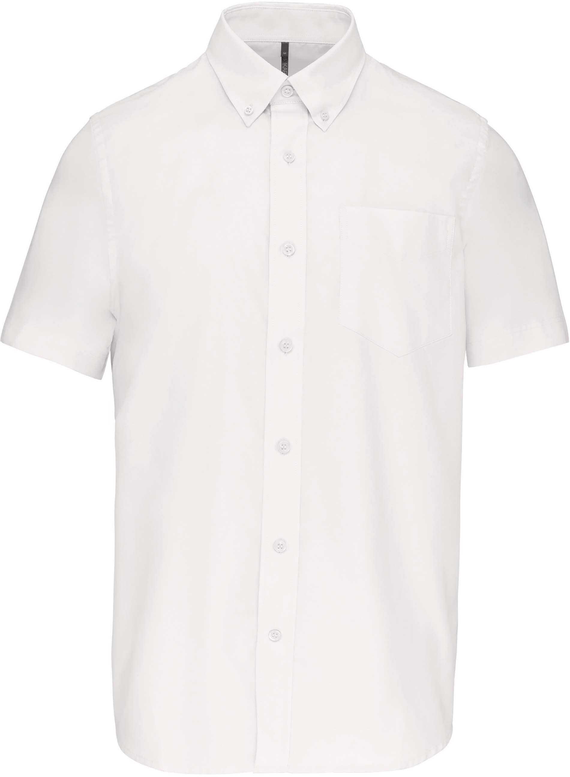 Pánská košile oxford s krátkým rukávem. Barva: White