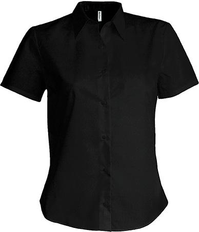 Dámská košile s krátkým rukávem v nežehlivé úpravě. Barva: Zinc