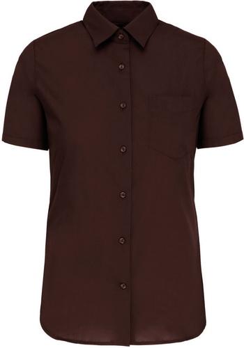 Dámská košile krátký rukáv JUDITH. Barva: Brown