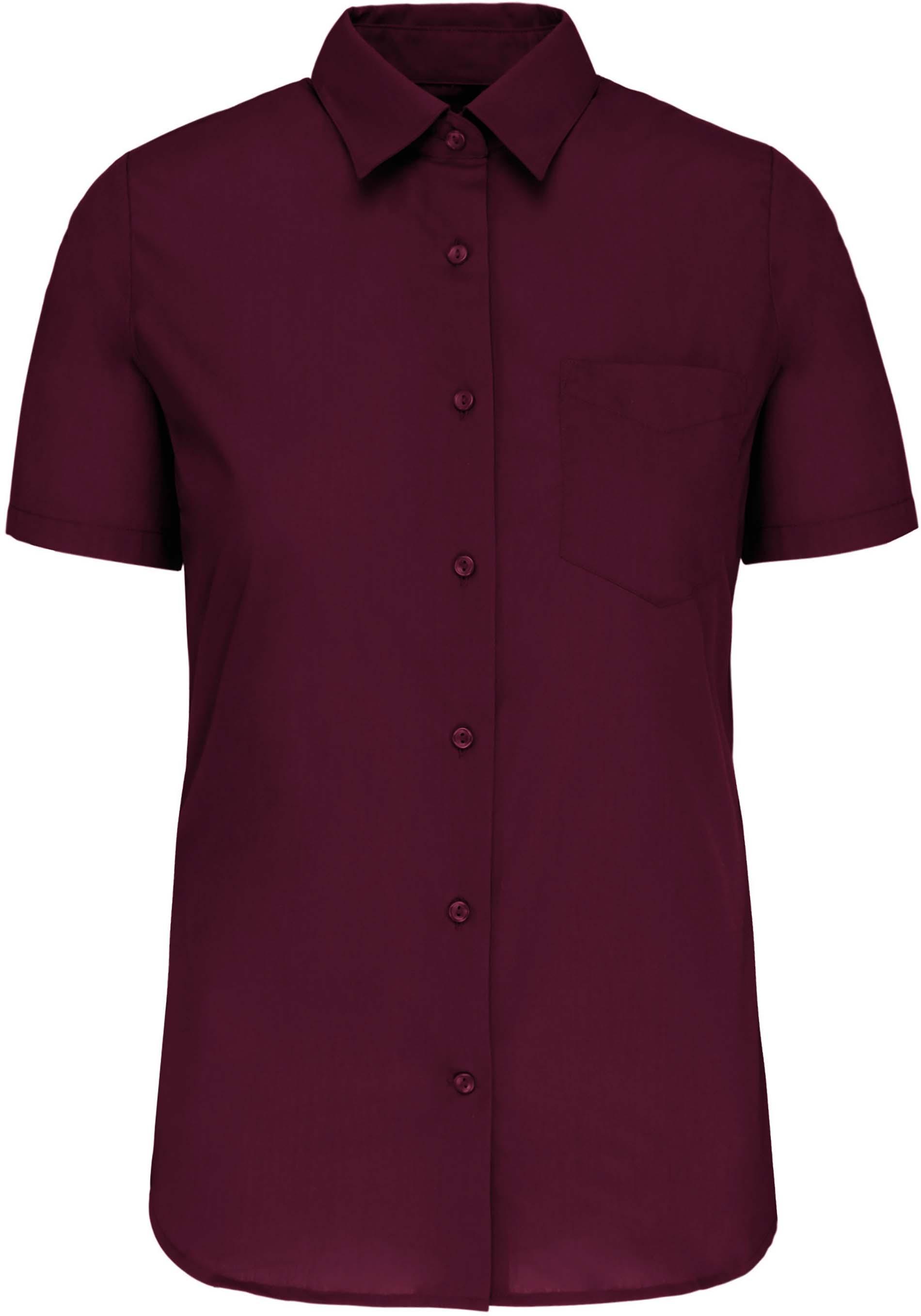 Dámská košile krátký rukáv JUDITH. Barva: Wine