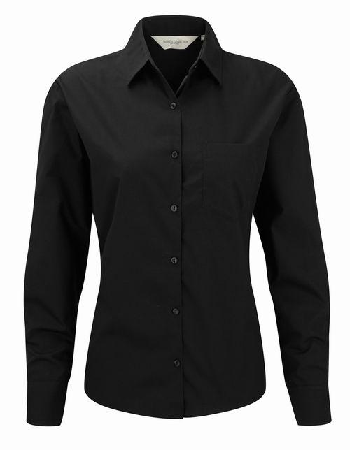 Dámská košile s dlouhými rukávy Ultimate v nežehlivé úpravě. Barva: Black
