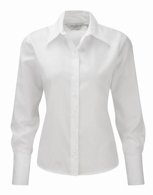 Dámská košile s dlouhými rukávy Ultimate v nežehlivé úpravě. Barva: White