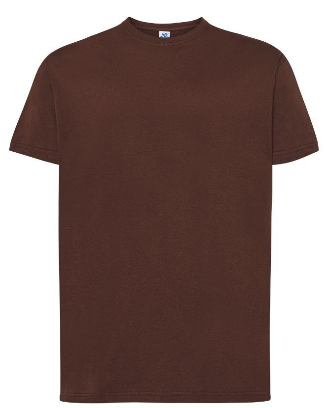 Pánské tričko Regular Premium. Barva: Chocolate