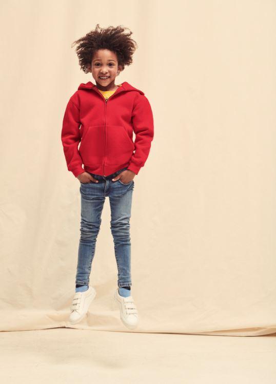 Dìtská mikina Premium Hooded s kapucí a zipem