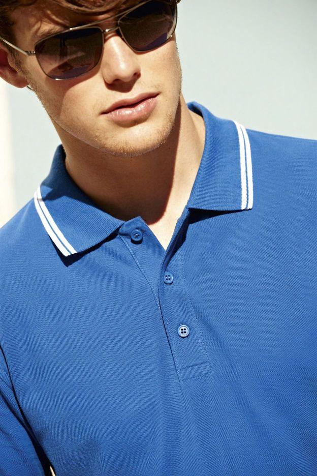Pánská polokošile Premium Tipped Polo