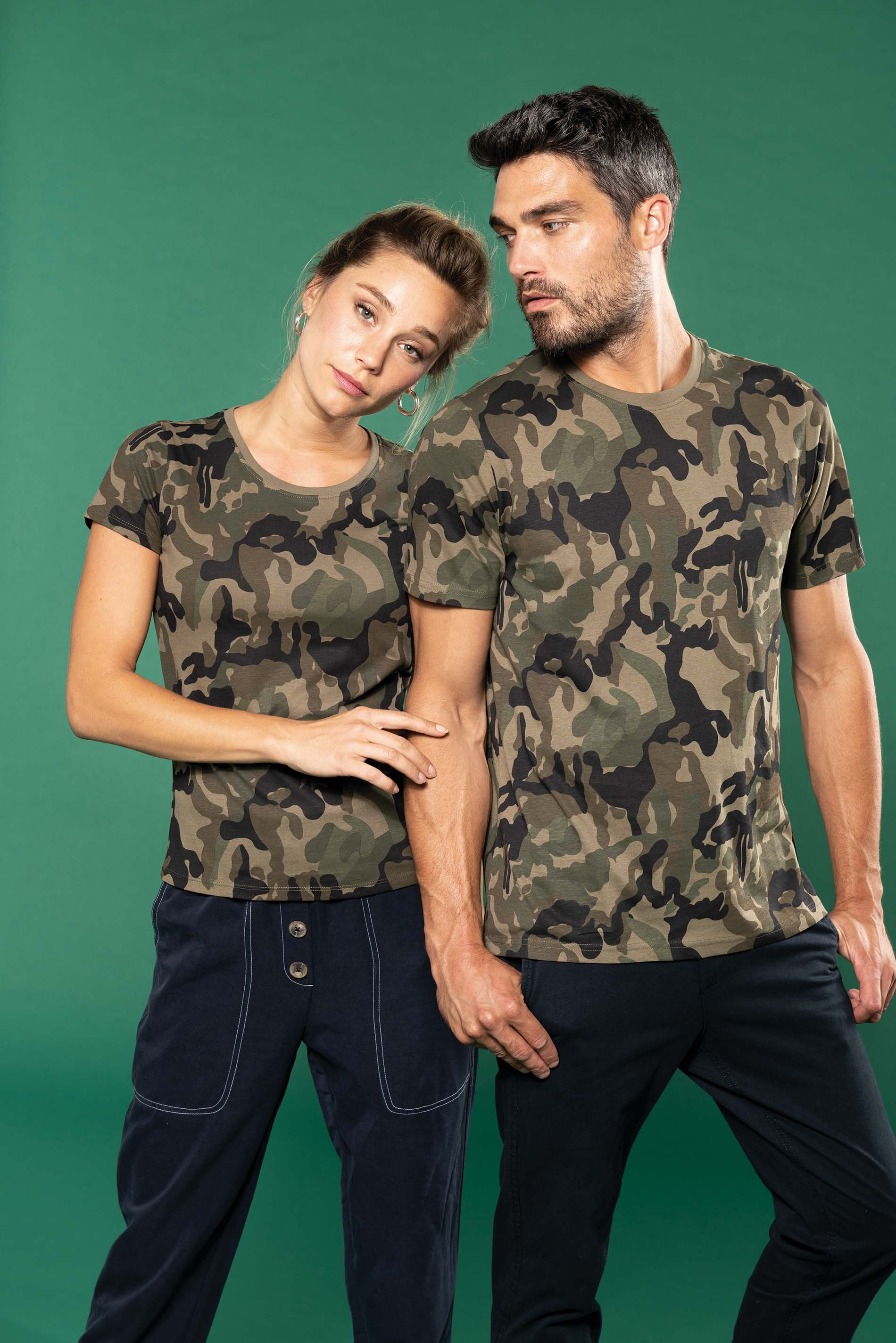 Dámské trièko Camo camouflage