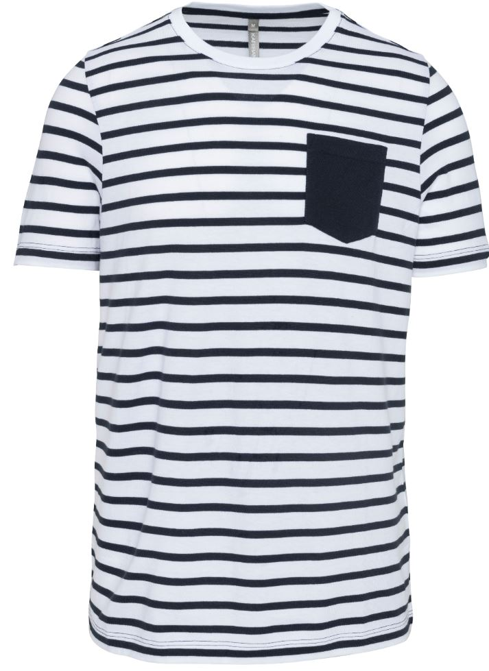 Striped White/Navy