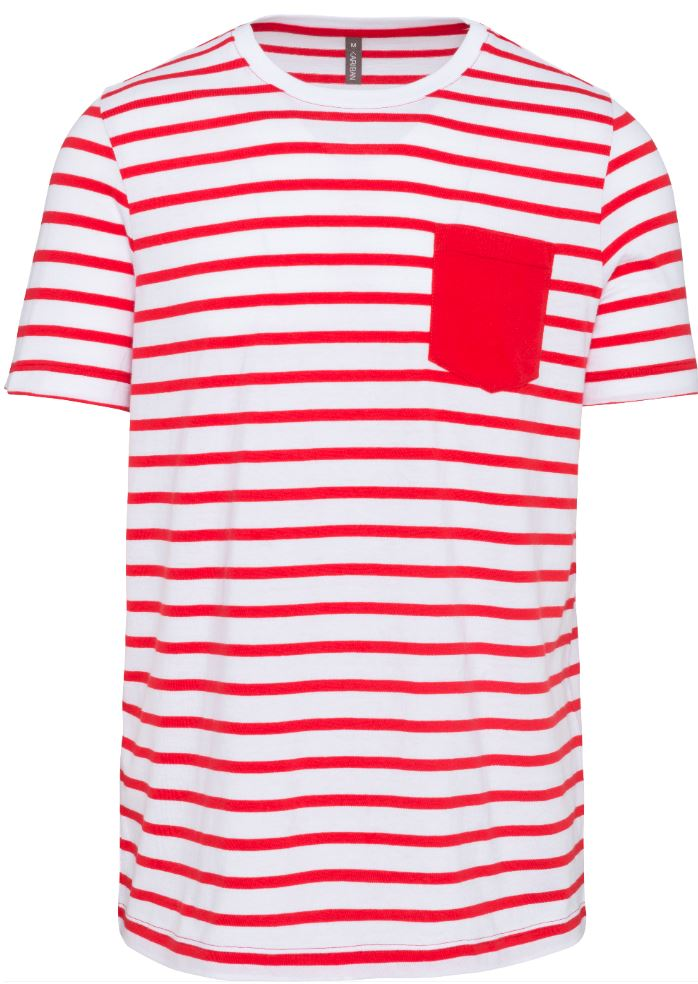 Striped White/Red