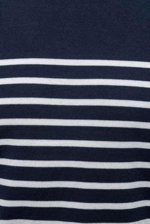 Striped Navy/Off White